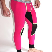 Out of the Closet Mesh Knee Long Johns- Pink
