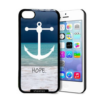 Shawnex Beach Anchor Hope iPhone 5C Case - Thin Shell Plastic Protective Case iPhone 5C Case