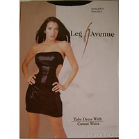 Leg Avenue Tube Dress Cutout Waist Sides Medium Large 8574 Nylon Spandex M L NIP