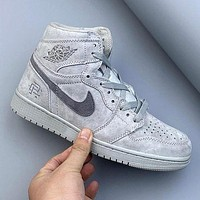 AJ1 AIR JORDAN 1 high quality breathable suspension high-top basketball shoes