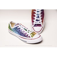 Rainbow Sequin Low Top Sneakers
