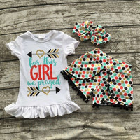 In Stock- For this girl we prayed short set