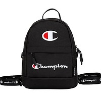 Champion 2019 new men's and women's casual sports canvas backpack Black