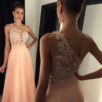 One Shoulder Prom Dress,A-Line Prom Dresses,Evening Dresses