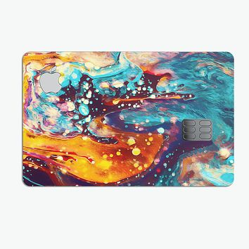 Liquid Abstract Paint Remix V22 - Premium Protective Decal Skin-Kit for the Apple Credit Card