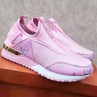 Louis Vuitton LV Newest Popular Women Casual Shoes Sneakers Pink 1