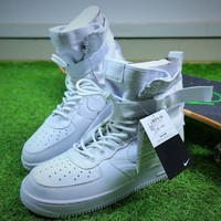 Nike Special Forces Air Force 1 SF AF1 Boots All White Shoes Sneaker - Best Online Sale
