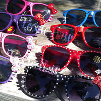 NEW Hello Kitty Sun glasses with Swarovski Crystals glass Rhinestones choose one Ships in 2 -3 days ready to ship