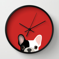 French Bulldog Wall Clock by Anne Was Here