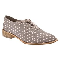 Printed canvas oxfords