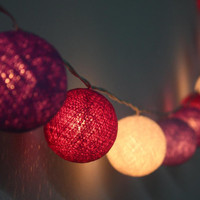 Cotton ball string lights for home decorparty by Icandylighting