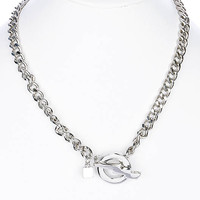 NECKLACE / LIGHTING / METALCHAIN / TOGGLE / THUNDER / 2 INCH DROP / 18 INCH LONG / NICKEL AND LEAD COMPLIANT