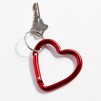 Bison Designs Mini Heart Carabiner Clip Keychain | Urban Outfitters