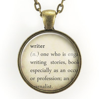 Writer Dictionary Definition Necklace
