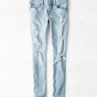 AEO Women's Skinny Jean (Light Destroy Wash)