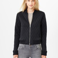 Gap Women Quilted Knit Bomber