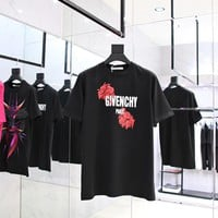 givenchy 2018ss flowers letters t shirt  003