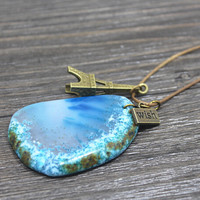 Vintage Style Handmade Crystal Stone Necklace Gift 140