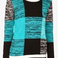 Colorblocked Marled Sweater