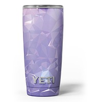Light Purple Geometric V13 - Skin Decal Vinyl Wrap Kit compatible with the Yeti Rambler Cooler Tumbler Cups