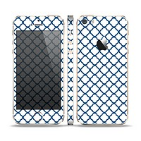 The Navy & White Seamless Morocan Pattern V2 Skin Set for the Apple iPhone 5s