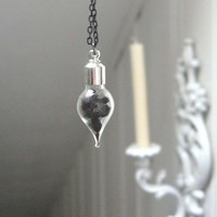 Wiccan Vial Pendant - magickal elderberry necklace herbs wicca pagan protection healing prosperity