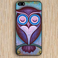 iPhone 4s case sleepy owl colorful case iphone case,ipod case,samsung galaxy case available plastic rubber case waterproof B016