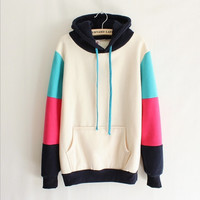 Fashion Multicolor hoodie Top Sweater Pullover