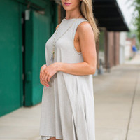 Happy Thoughts Only Dress, Heather Gray