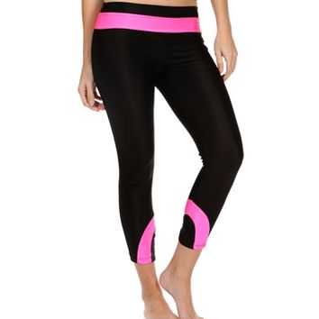 Black/Fuchsia Two-Toned Work Out Pants