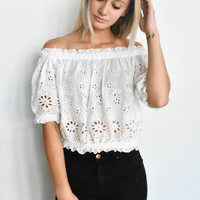 """Sweet Emotion"" Off The Shoulder Top"