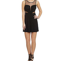 Hailey Logan Glitter Knit Illusion Dress - Black