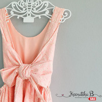 SALE - Eyelet pink lace backless party dress lace trim hemmed Prom Party cocktail dress pink lace dress Small