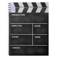 Clapperboard cinema notebook