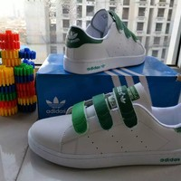 """""""Adidas Stan Smith"""" Unisex Sport Casual Multicolor Plate Shoes Sneakers Couple Velcro Small White Shoes"""