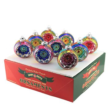 Shiny Brite CC Reflector Rounds Christmas Ornament - 4027748.