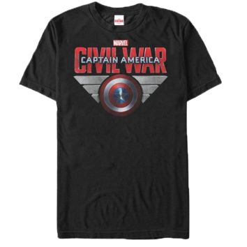 Captain America Civil War Cap Shield Wings T-Shirt