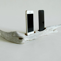 Driftwood Docking Station For Two Smart Phones No. 478