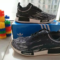 Adidas Fashion Casual Multicolor Fly Weave Sneakers Men Running Shoes