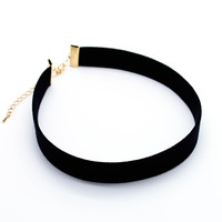 Simple suede choker necklace (2 colors)