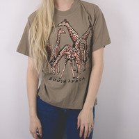 Vintage Giraffe South Africa T Shirt
