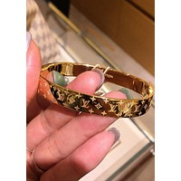 LV Louis Vuitton Trending Women Men High end Couple Stainless Steel Bracelet I