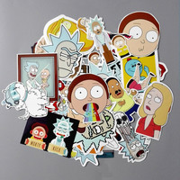 TD ZW 35Pcs/lot American Drama Rick and Morty Funny Sticker Decal For Car Laptop Bicycle Motorcycle Notebook Waterproof Stickers