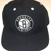 Brooklyn Nets Flat Bill Snap Back Adidas Hat - Osfa