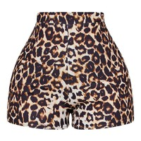 Shape Brown Leopard Print Hotpants