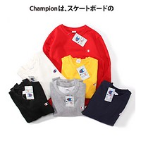 Champion Trending  Casual Women Men Embroider Pullover Long Sleeve Sweater G