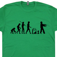 Zombie T Shirt Zombie Evolution T Shirt Funny Zombie T Shirts