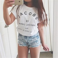 Short Sleeve Fashion Strong Character Couple T-shirts [10240991123]