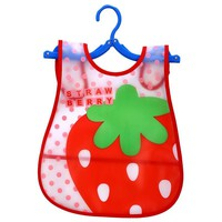EVA Plastic Waterproof Lunch Feeding Bibs Adjustable Baby Bibs Baby Cartoon Feeding Cloth Children Apron Baby Accessories Stuff