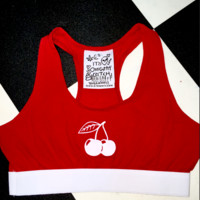 SWEET LORD O'MIGHTY! OG CHERRY BRALET IN RED